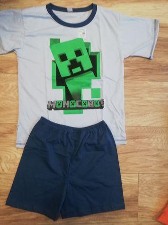 Piżama Minecraft r. 134, 140, 146 krótki rękaw