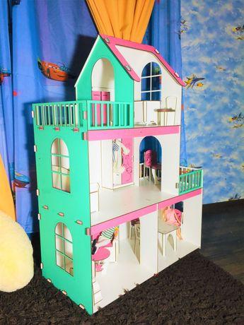 Большой деревянный домик для  кукол Барби ЛОЛ Ляльковий будинок 105см