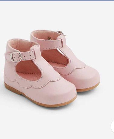 Jacadi Damia 21 размер туфли розовые для девочки