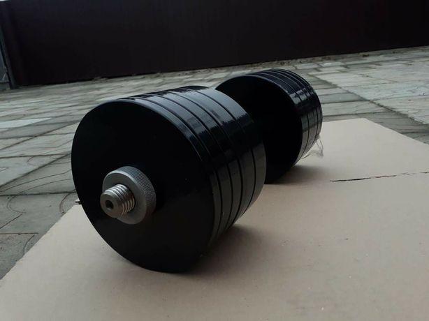 Гантели наборные 2x18 кг стальные с порошковой покраской метал