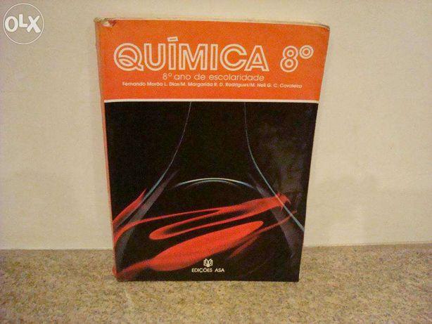 Livro Escolar de Quimica do 8º Ano usado