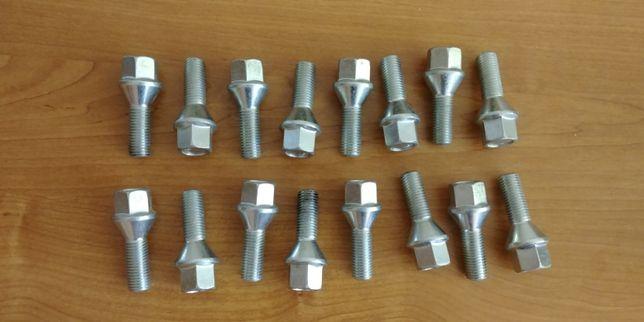 Nowe śruby do felg x16 / M12 x 1.50 stożek / Gwint 28mm