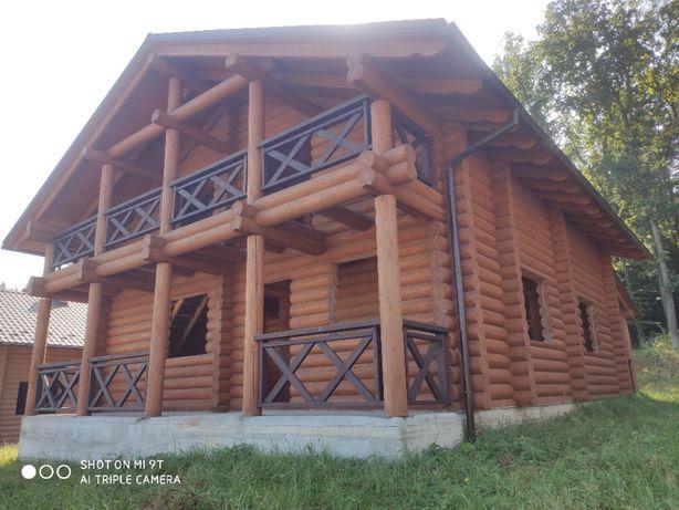 БезКОМІСІЇ Еко-будино зруб з земельною ділянкою в с.Раковець біля лісу