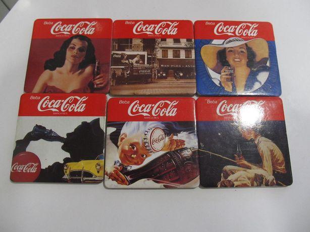 12 bases copos da coca cola vintage