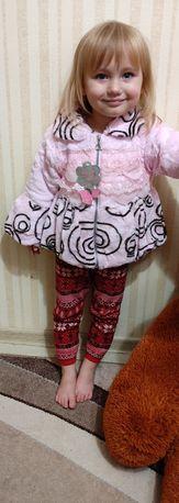Шубка и жилетка детская