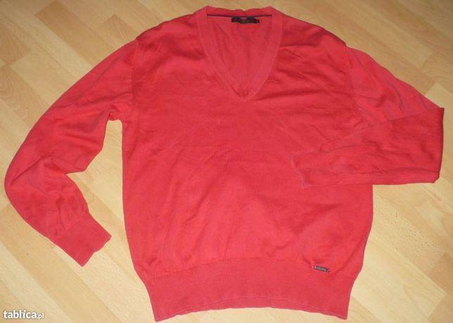 Sweter męski w serek roz. L * Burberry London