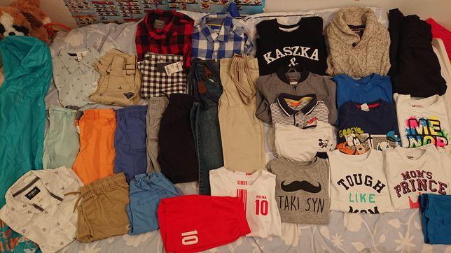 Paka ubrań 110-116 dla chłopca