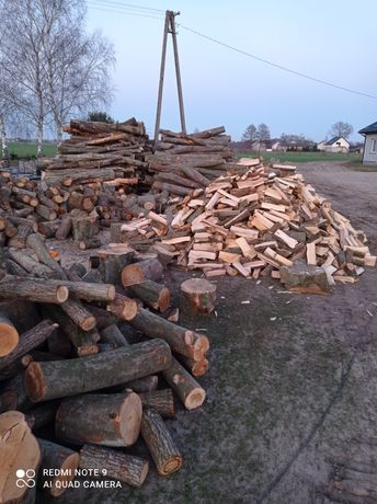 Dąb buk grab opał drewno do kominka