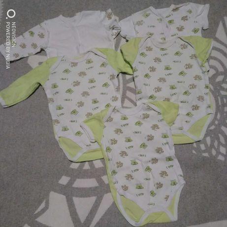 Вещи для малыша распашонки, человечик, кофта и штаны шапки