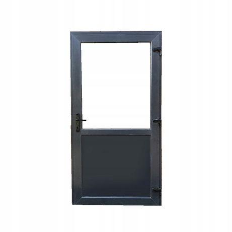 drzwi zewnętrzne pcv kacprzak antracyt 90x200prawe