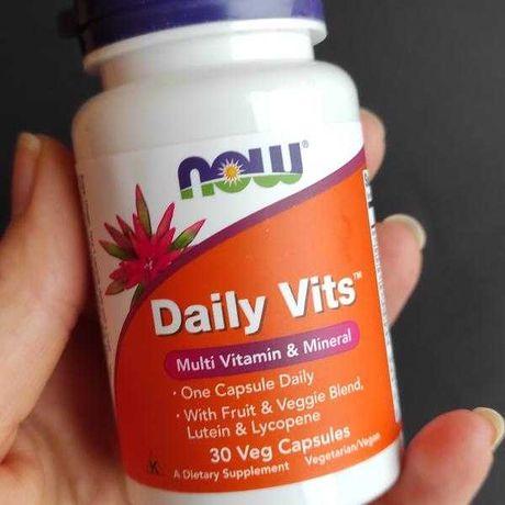 Мультивитамины и микроэлементы Now Foods Daily Vits витамины, 30 штук
