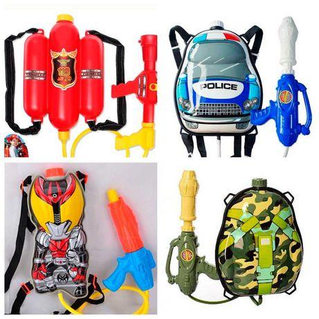 Водяной пистолет с рюкзаком Water gun backpack Водяной шутер