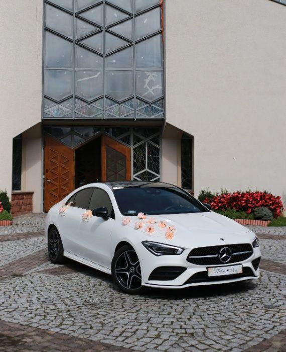 Auto do ślubu Mercedes CLA AMG 2020 Biała Perła, Porsche Panamera 4S