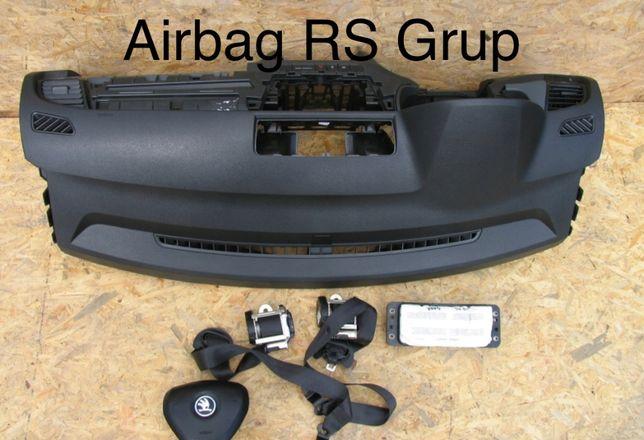 Skoda Fabia 2 3 tablier airbags cintos