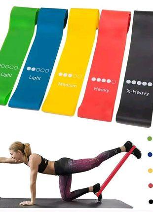 резинки для фитнеса, пилатеса и занятий на дому