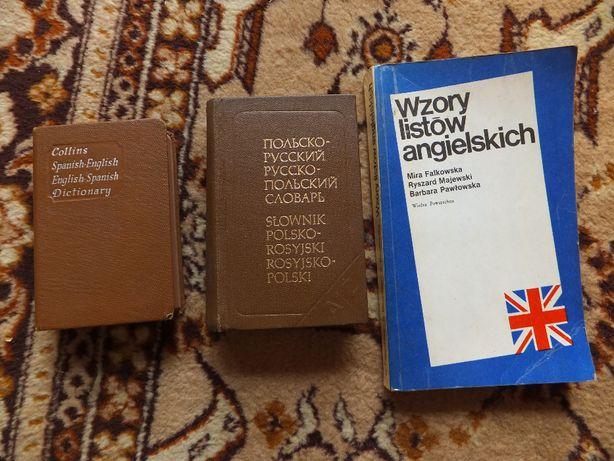 Słowniki Polsko- rosyjski Hiszpańsko- Angielski Wzory listów Angiel.