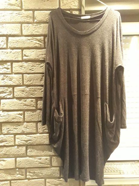 Suknia sukienka szara XXL