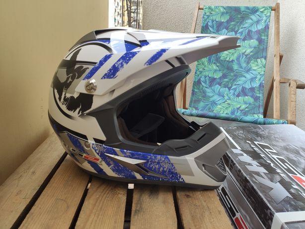 Kask rower/motor LS2 mx433 stripe White Black, enduro, cross, downhill