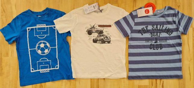 T-shirty 3 szt. COOL CLUB, RESERVED, CHEROKEE, roz. 122 !!