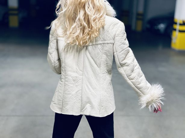 Kużuch kurtka futro biała