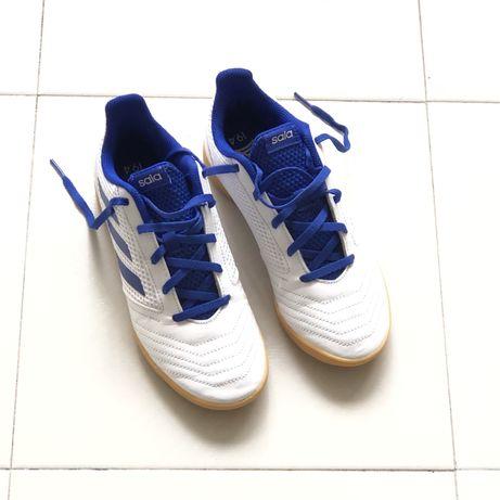 Ténis Adidas originais novos brancos e azuis, 37