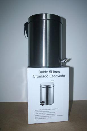 Balde Cromado com pedal - 5 lts