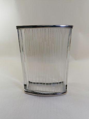 Jarra retangular em cristal/prata
