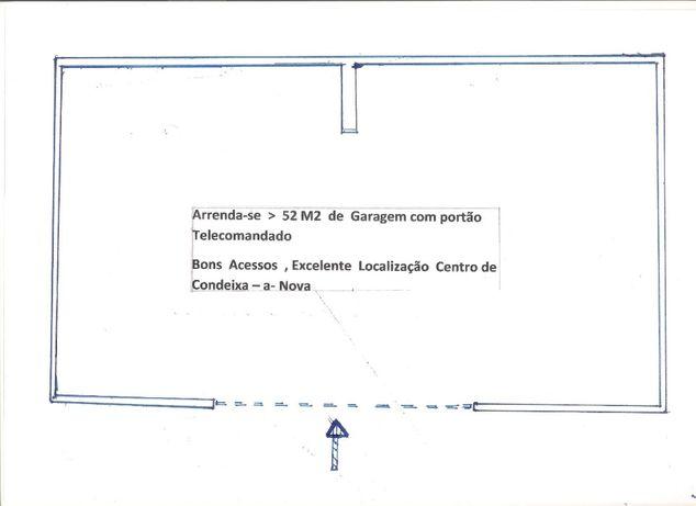52 M2 , Garagem Centro de Condeixa , c/ portão Telecomandado