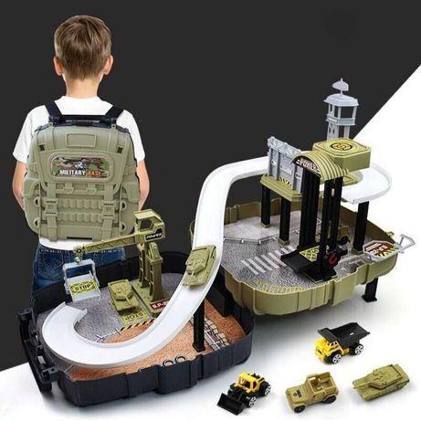 Детский игровой набор Военная база в рюкзаке