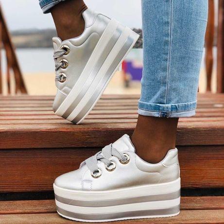 Женские кроссовки на платформе, танкетке 37-41 размер,качество супер