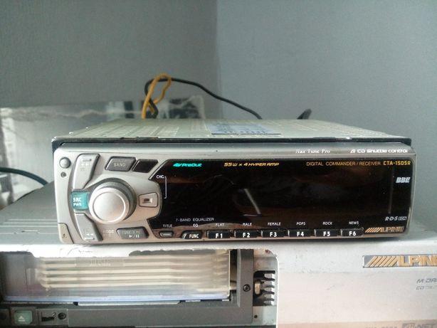 Radio jednostka sterująca Alpine cta-1505 + zmieniarka + kable