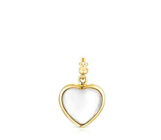 Tous nowa oryginalna zawieszka good vibes heart żółte złoto Vermeil