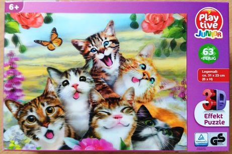 Układanka PLAY TIVE 3D Puzzle kotki