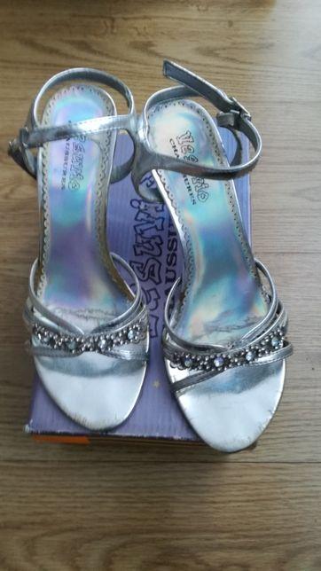 Sandały, buty srebrne Vesuvio rozm. 37