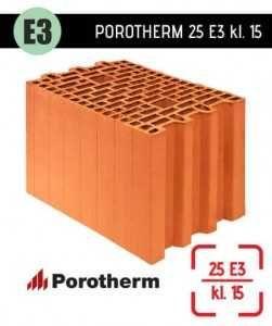 Pustaki ceramiczne Wienerberger Porotherm 25 PROFI kl. 15