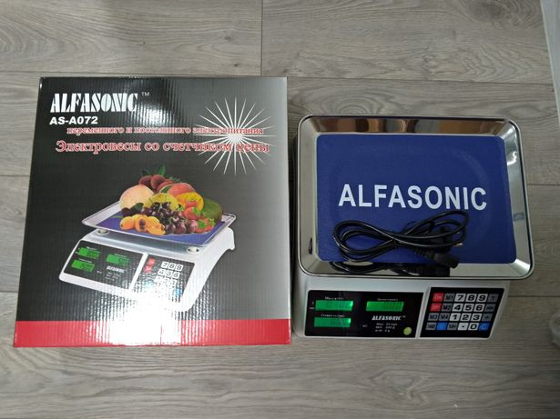 Торгові ваги Alfasonic до 50 кг нові запаковані З акумулятором