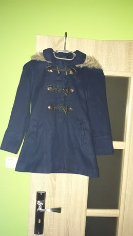 Płaszcz dla dziewczynki na 122- 128 cm