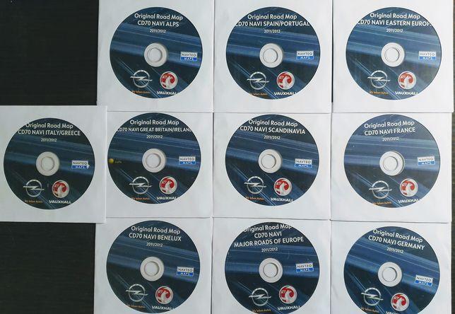 Mapy nawigacyjne oryginalne 2011/2012 OPEL CD70 10 szt