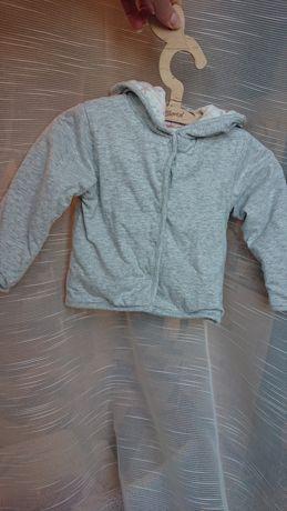 Cool Club 80 bluza dwustronna z kapturem motyw morski kremowa, szary m