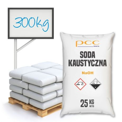 Soda Kaustyczna 300 kg - cena z wysyłką cała Polska