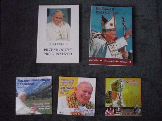 Jan Paweł II - książki i płyty VCD - każda po 5 złotych