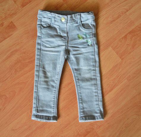 Spodnie szare jeansy Tape a l'oeil NOWE rozm. 71 (9 m-cy)
