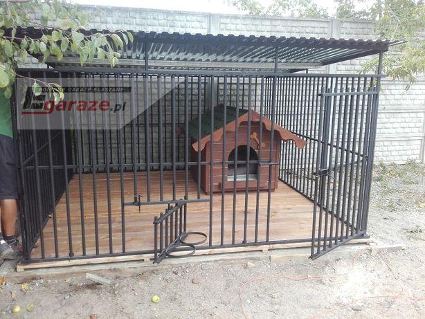 PROMOCJA BEZPIECZNY zestaw Kojec dla psa 3,5X2, podłoga, uchwyty dowóz