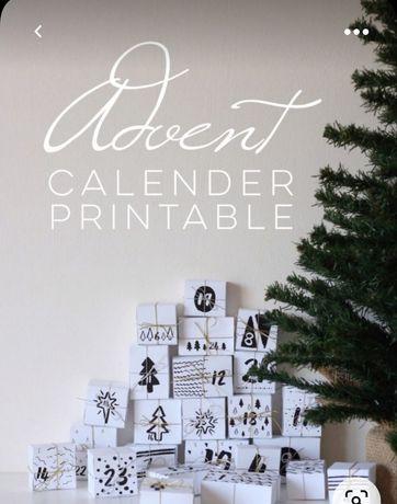 Адвент календар для дітей. Очікування Різдва. Календар. Декор.