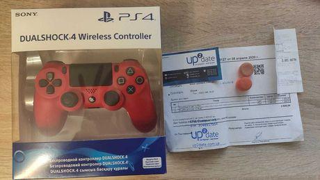 Оригинальный Dualshok 4 PS4 (На гарантии) + Стики Kontrolfreek