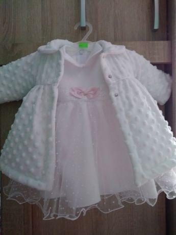 Sukienka z płaszczem do chrztu