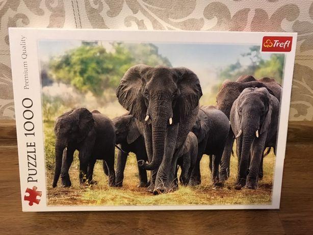 Puzzle Trefl Afrykańskie Słonie