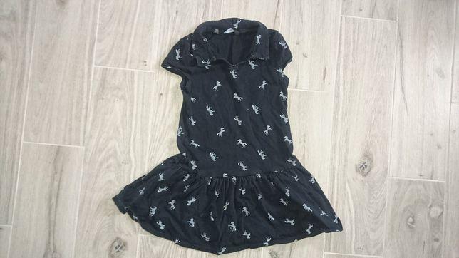 Sukienka w zebry 110/116