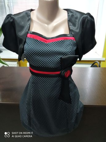 Платье нарядное, атлас, 46 размер