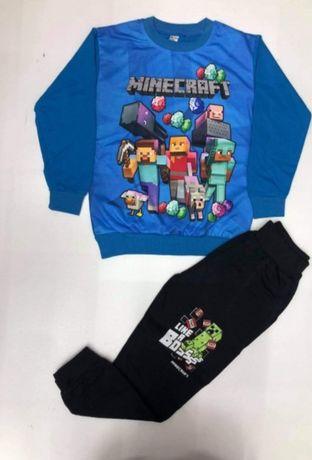 Dres niebieski minecraft 104 i 110